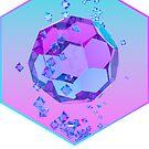 Orbiting Gems Cyan Pink - 3D Design by jeffjag