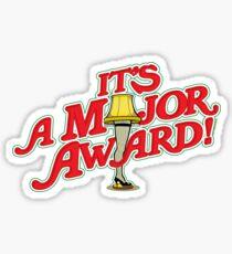 It's a Major Award!  A Christmas Story Leg Lamp Sticker