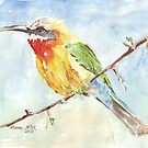 Whitefronted Bee-eater (Merops bullockoides) by Maree Clarkson