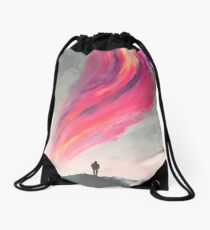Where Fear Ends Drawstring Bag
