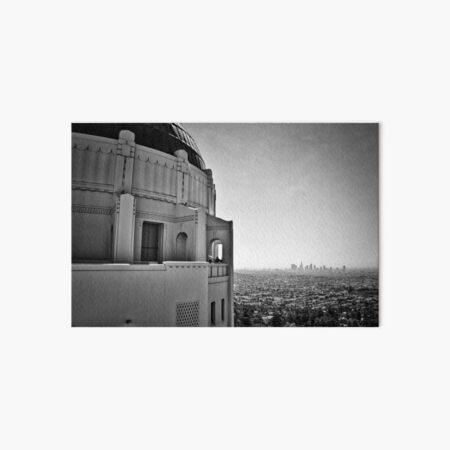 Griffith Observatory And Downtown Los Angeles Art Board Print