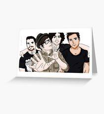 Fall Out Boy Fanart Greeting Card