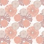 Rose Gold Flower Pattern by tanyadraws