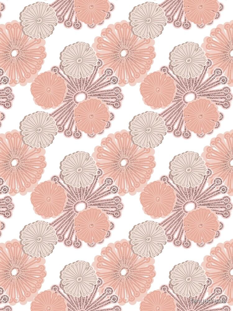 Rose Gold Flower Pattern by tanyadraws