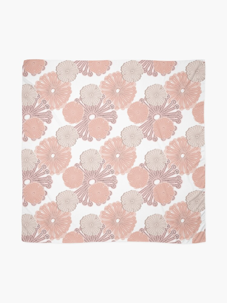 Alternate view of Rose Gold Flower Pattern Scarf
