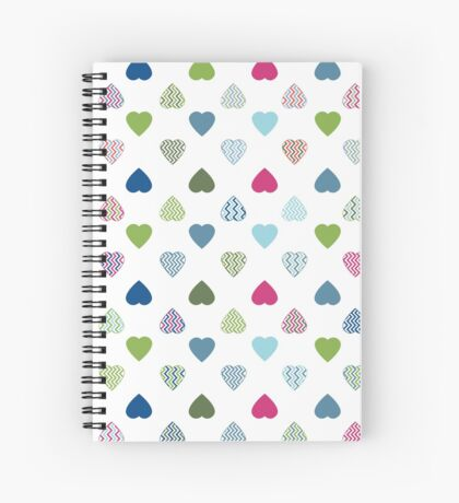 AFE Colorful Hearts Spiral Notebook