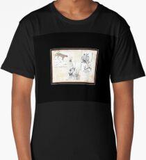 Lodge décor - Wildlife Triptych Mix & Match Throw Pillow Long T-Shirt