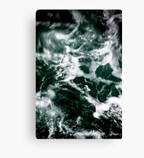 Dark Ocean Sea Waves Canvas Print