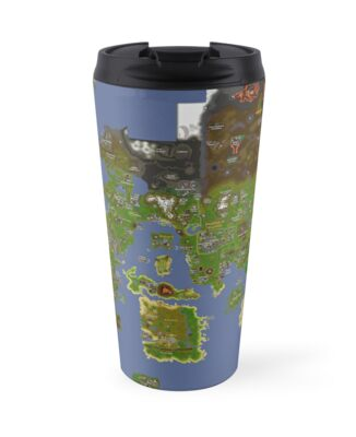 Old world map travel mugs by lumbridge redbubble old world map gumiabroncs