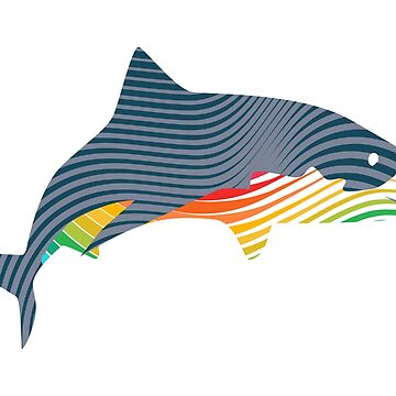 Color Swoosh Shark by asyrum
