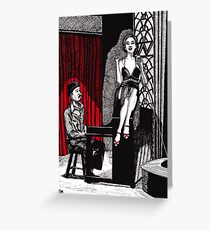 Piano Bar Greeting Card