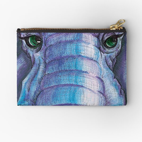Elephant Face Zipper Pouch
