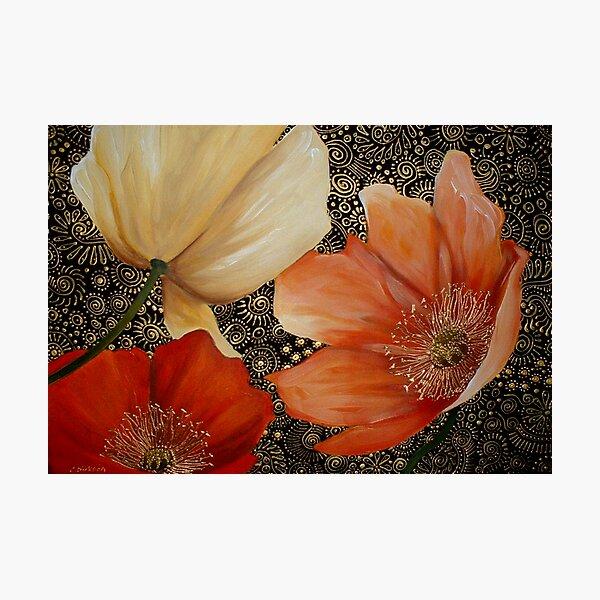 Poppy Trio Photographic Print