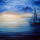 Blue Sunset by Cherie Roe Dirksen