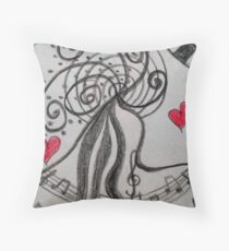 Musicality Throw Pillow