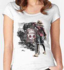 One Piece Hero Man  Women's Fitted Scoop T-Shirt