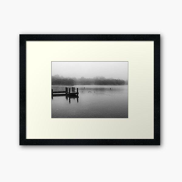 Wentworth Falls Lake in Mist Framed Art Print