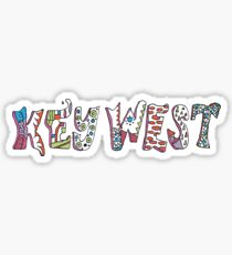 Key West Florida - Watercolor Mosaic Sticker