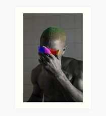 Monochrome Frank Censored (8K resolution) Art Print