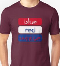 Blue, Red and White Patriotic American Design T-Shirt