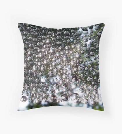 Mercury Droplets Throw Pillow