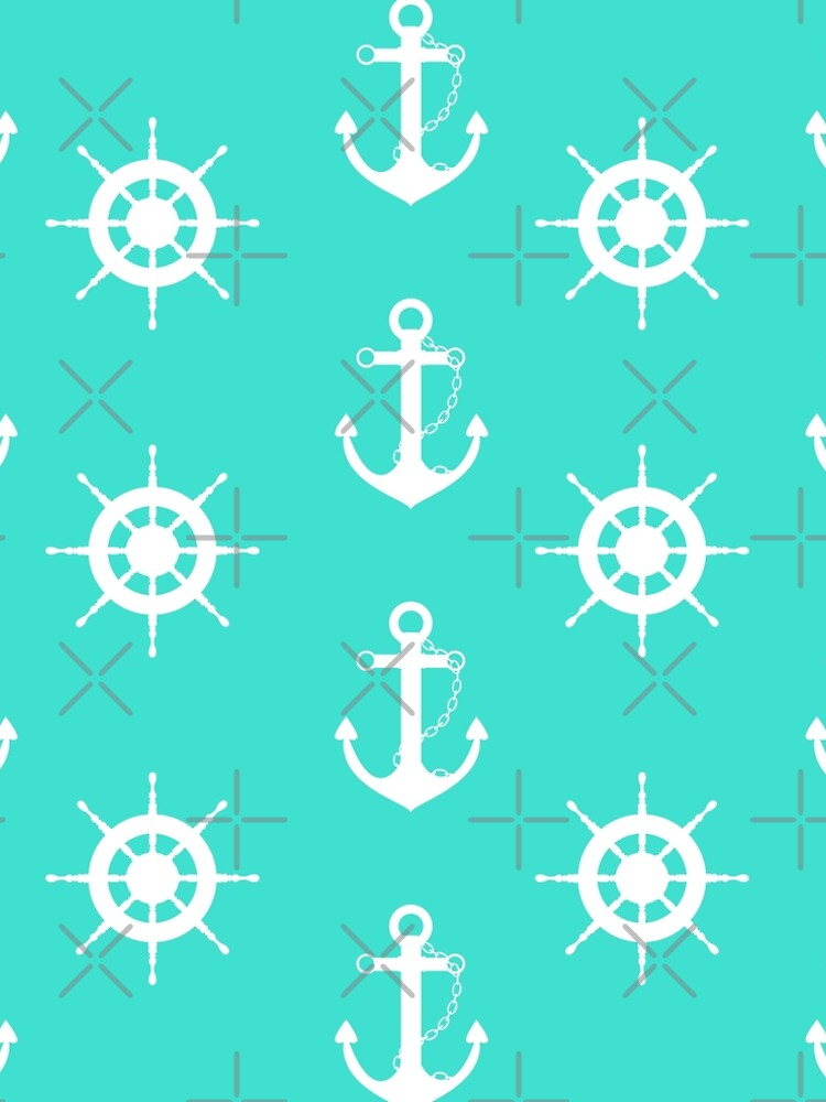 AFE Turquoise Anchor and Helm Wheel by afeimages1