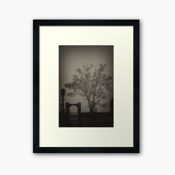 Misted Out Framed Art Print