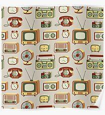 Retro electronics Poster