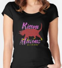 kitten mittons Women's Fitted Scoop T-Shirt