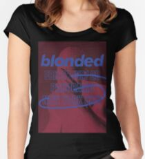 blonded Panorama Red (no globe) Women's Fitted Scoop T-Shirt