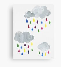 Rainbow Rain Clouds Canvas Print
