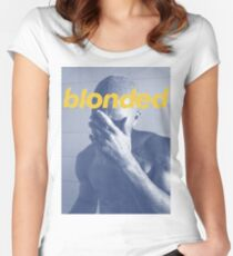 Blue Frank blonded Women's Fitted Scoop T-Shirt