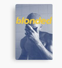 Blue Frank blonded Canvas Print