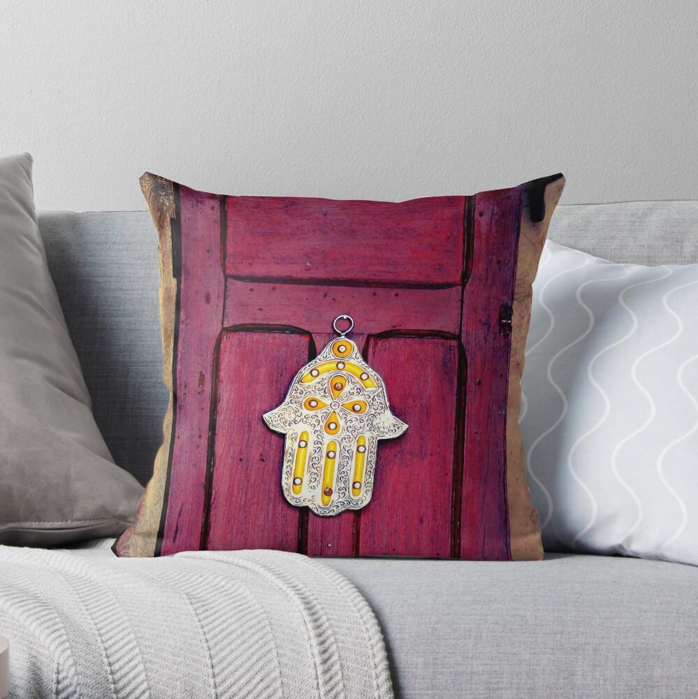 HAMSA, Hand of Fatima,  Throw Pillow