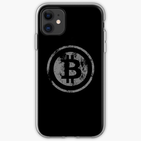 Vintage Bitcoin logo iPhone Soft Case