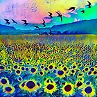 Late Summer Sunflowers by RobynLee
