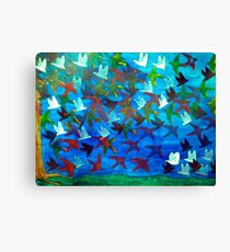 One Hundred Birds Canvas Print