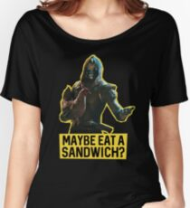 Cayde-6 and the Chicken Women's Relaxed Fit T-Shirt