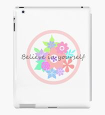 Pretty flowers in pastel colors and inspiring words iPad Case/Skin