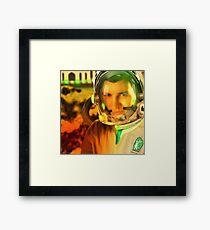 Ahmed Khan, The Pakistani Space Exploring Astronaut Framed Print