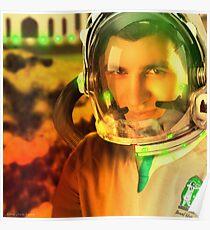 Ahmed Khan, The Pakistani Space Exploring Astronaut Poster