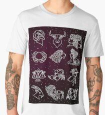 twelve zodiac constellation horoscope signs Men's Premium T-Shirt