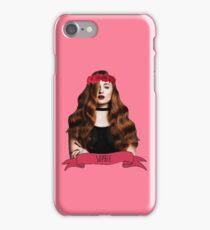 Sophie Turner in a red flower crown iPhone Case/Skin