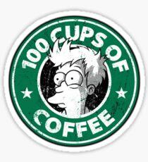 100 tazas de cafe Sticker