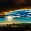 Smokey sunset 1 by Richard Bozarth
