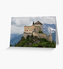 Tarasp Castle, Graubünden, Switzerland Greeting Card