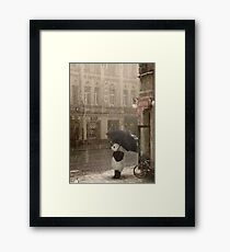 It's raining outside Framed Print