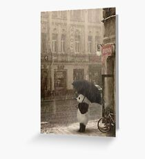 It's raining outside Greeting Card