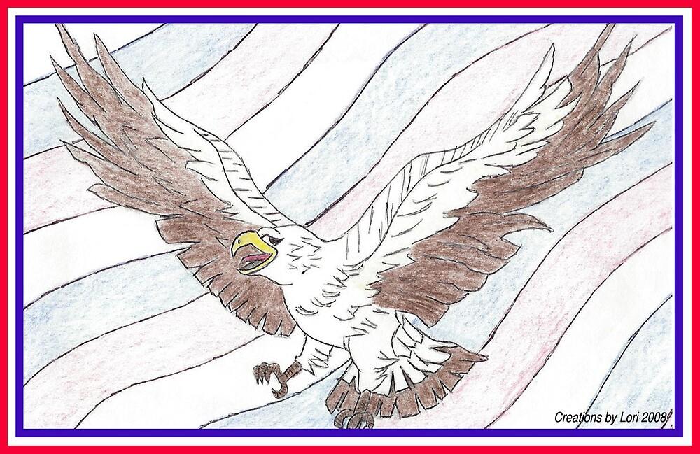 Patriotic flight by LORI NUNGESTER
