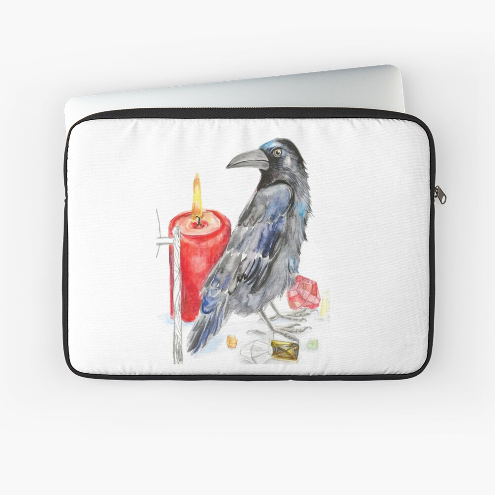 Raven Laptop Sleeve Front